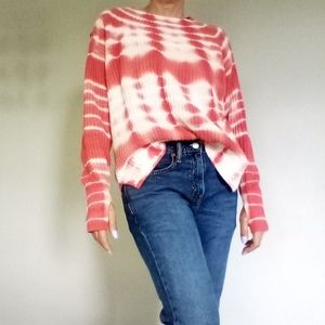 NWOT Time and True Tie Dye Cotton Sweater